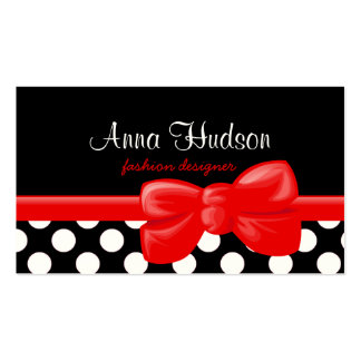 Polka Dots, Spots (Dotted Pattern) - White Black Double-Sided Standard Business Cards (Pack Of 100)