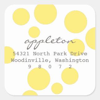 Polka Dots Square Address Label Square Sticker