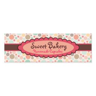 Polka Dots Strawberry Cupcake Mini Business Cards