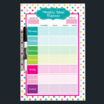 """Polka Dots &amp; Stripes Weekly Meals Dry Erase Board<br><div class=""""desc"""">Polka Dots &amp; Stripes Weekly Meals Dry Erase Board is the perfect way to plan out your meals every week and makes grocery list writing a breeze! Perfect for tracking and recording points,  calories and more!</div>"""