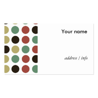 polka dots style Double-Sided standard business cards (Pack of 100)