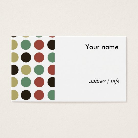 polka dots style business card