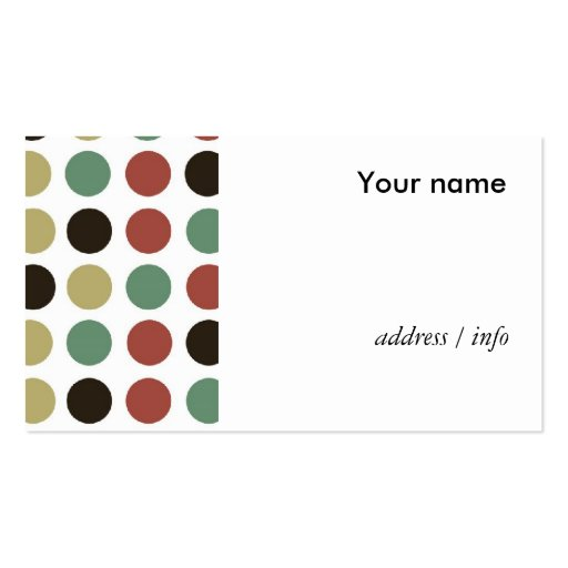 Polka dots style business card templates zazzle for Polka dot business card templates free