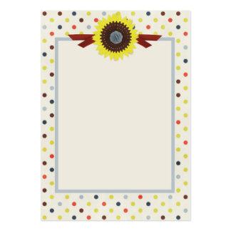 Polka Dots Sunflower Ribbon Business Card