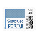 Polka Dots Surprise Forty Birthday Party Postage