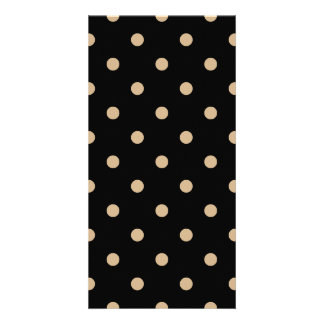 Polka Dots - Tan on Black Card