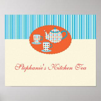 Polka Dots Tea Pot Poster
