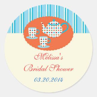 Polka Dots Tea Pot Sticker