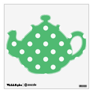 Polka Dots Teapot V2 Wall Sticker