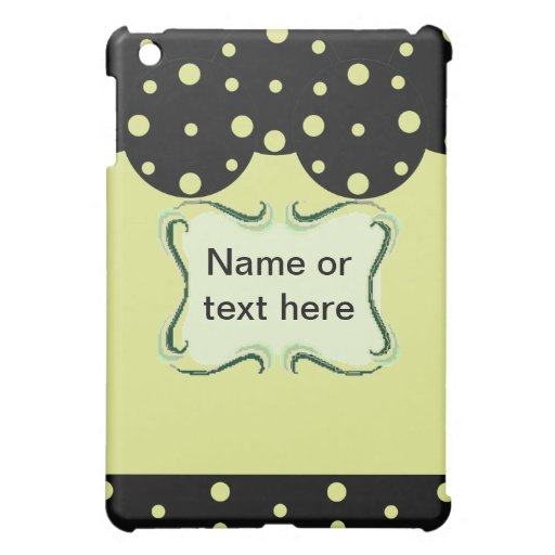 Polka Dots Template Cover For The iPad Mini