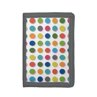 Polka dots tri-fold wallets