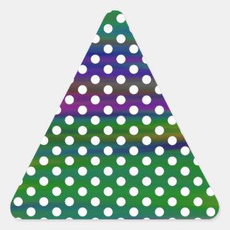 Polka-dots Triangle Sticker