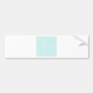 Polka Dots - Turquoise on White Bumper Sticker