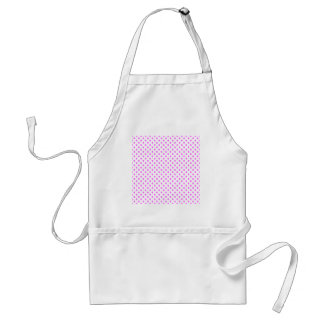 Polka Dots - Ultra Pink on White Aprons