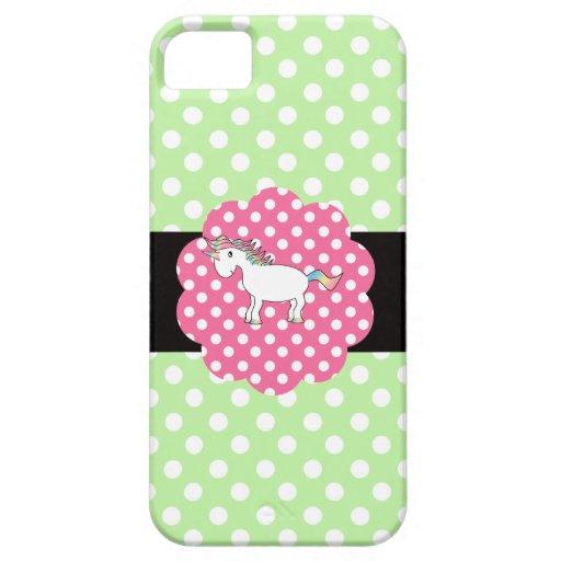 Polka dots unicorn iPhone 5 cases