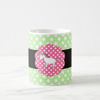 Polka dots unicorn classic white coffee mug