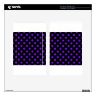 Polka Dots - Violet on Black Kindle Fire Decal