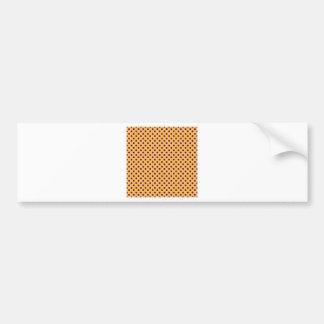Polka Dots - Violet on Orange Bumper Sticker