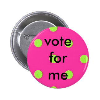 polka dots, vote for me button