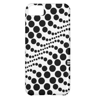 Polka Dots Wave Big Black iPhone 5 ID Case