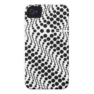 Polka Dots Wave Black iPhone 4 ID Case