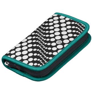 Polka Dots Wave Black Teal Zebra Mini Folio Planner