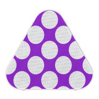 Polka Dots White Customizable Speaker
