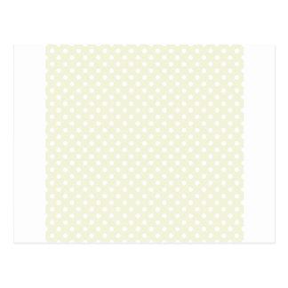 Polka Dots - White on Beige Postcard