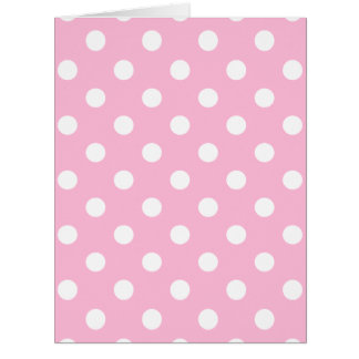 Polka Dots - White on Cotton Candy Card