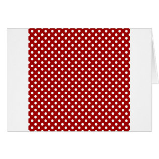 Polka Dots - White on Dark Candy Apple Red Card