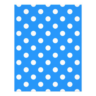 Polka Dots - White on Dodger Blue Letterhead