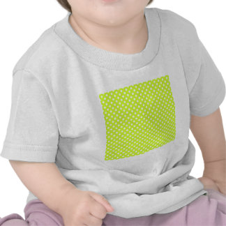 Polka Dots - White on Fluorescent Yellow Tee Shirt