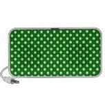 Polka Dots - White on Green Travel Speaker