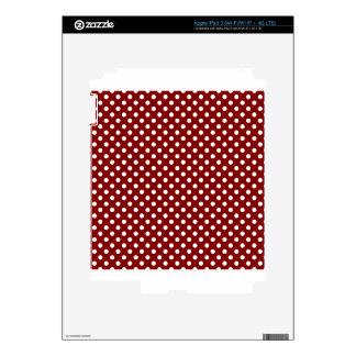Polka Dots - White on Maroon iPad 3 Decal