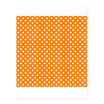 Polka Dots - White on Orange Postcard