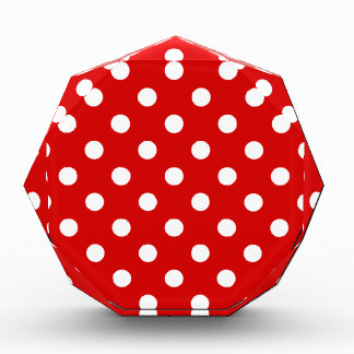 Polka Dots - White on Rosso Corsa Acrylic Award