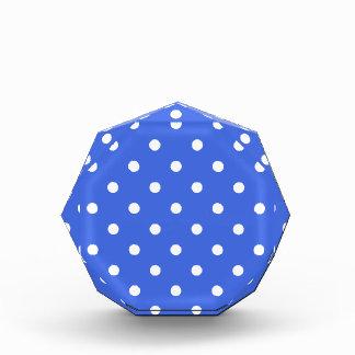 Polka Dots - White on Royal Blue Award