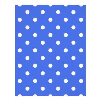 Polka Dots - White on Royal Blue Letterhead
