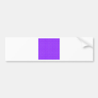 Polka Dots - White on Violet Bumper Sticker