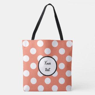 Polka Dots - White Tote Bag