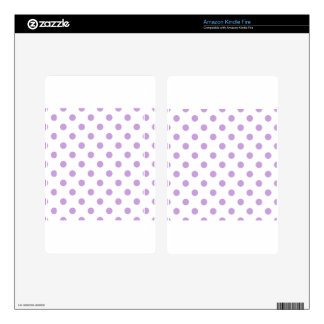 Polka Dots - Wisteria on White Kindle Fire Skin