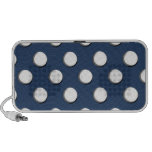 Polka Dots with Blue Background Portable Speaker