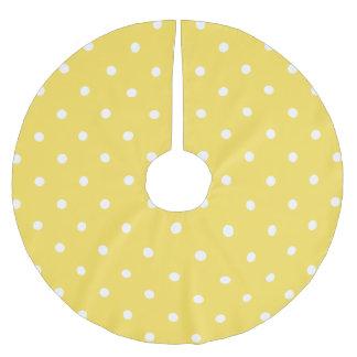 Polka Dots - Yellow Brushed Polyester Tree Skirt