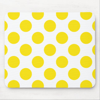 Polka Dots Yellow Mouse Pad