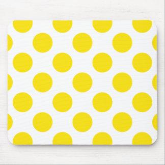 Polka Dots Yellow Mousepad