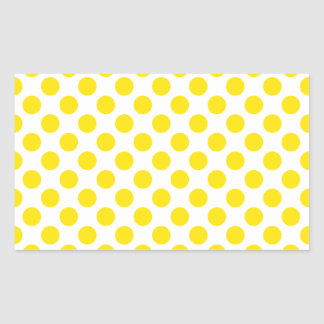 Polka Dots Yellow Sticker