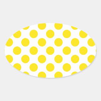 Polka Dots Yellow Stickers