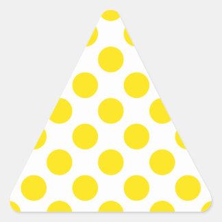 Polka Dots Yellow Triangle Sticker