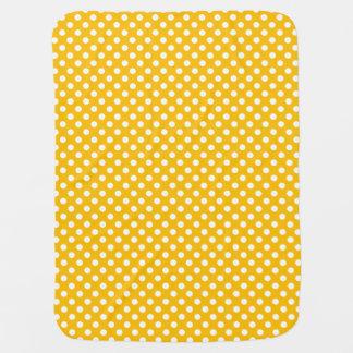 Polka Dots Yellow/White Reversible Stroller Blanket