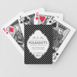 Polka Dotted Anniversary  Wedding Personalized Bicycle Playing Cards